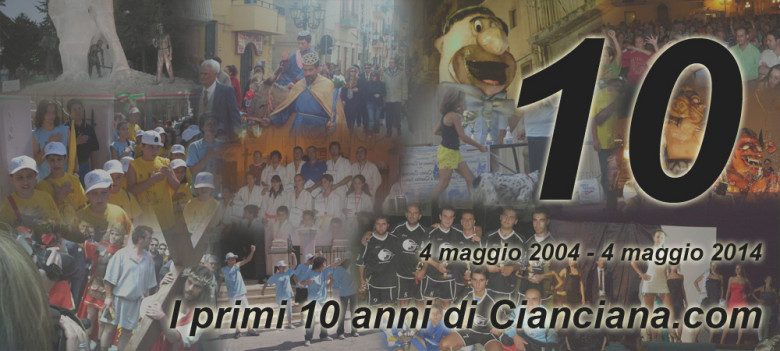SLIDE - 10 anni Cianciana.com
