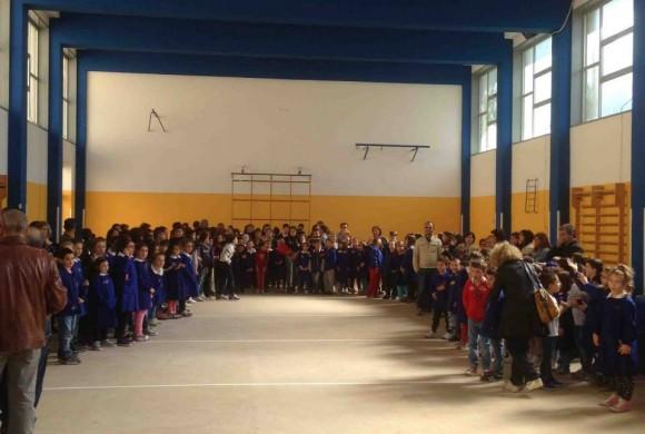 La palestra delle scuole di nuovo agibile