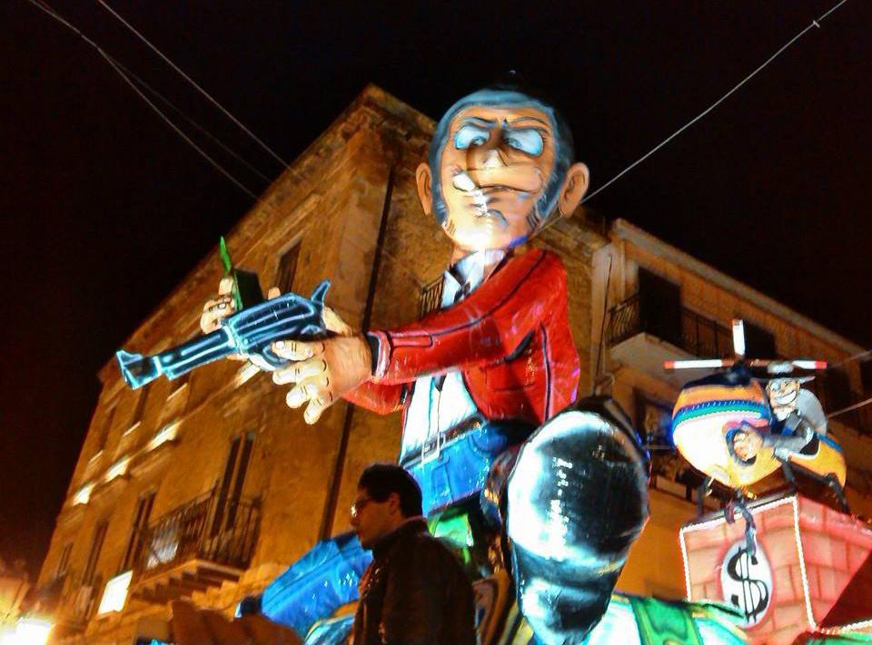 Carnevale Cianciana 2014: il carro allegorico di Lupin