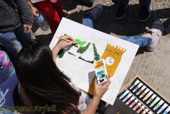 """Scuola Media, 2^ Estemporanea di pittura con tema """"La Cianciana che vorrei"""""""