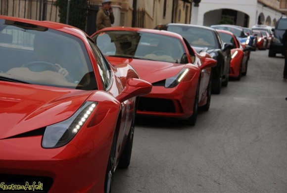 Targa Florio 2016, Ferrari e auto storiche attraversano Cianciana (FOTO)