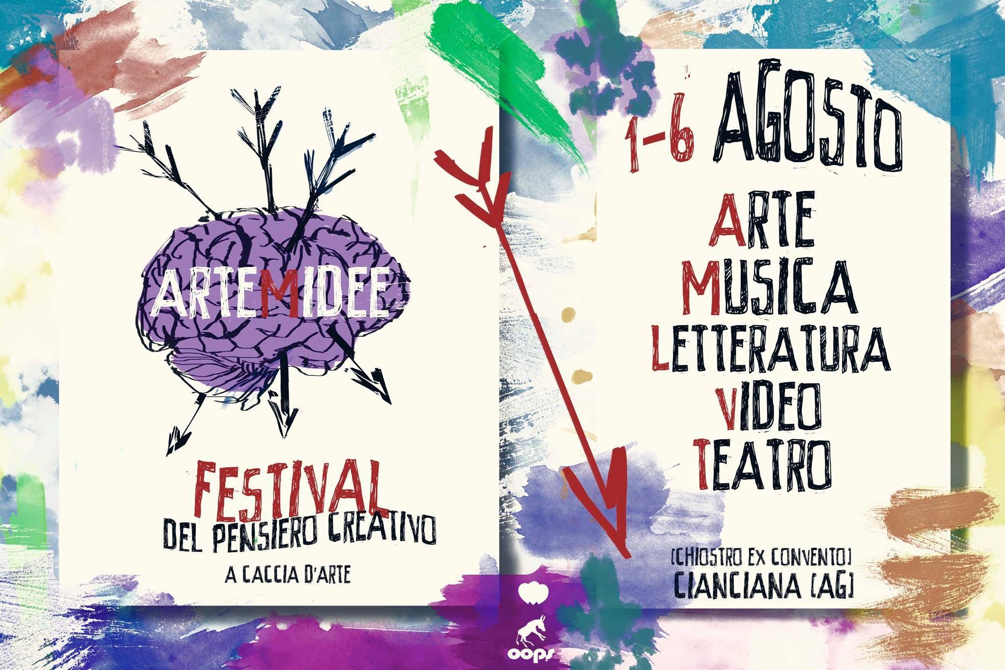 """Festival del Pensiero Creativo """"ARTemide – a caccia di arte"""": esposizioni, performance, concerti e workshop"""