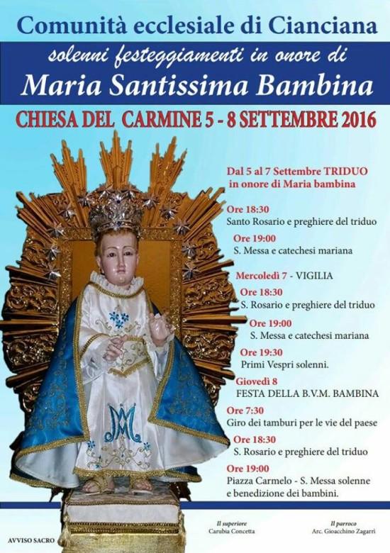 Festa Maria SS. Bambina 2016