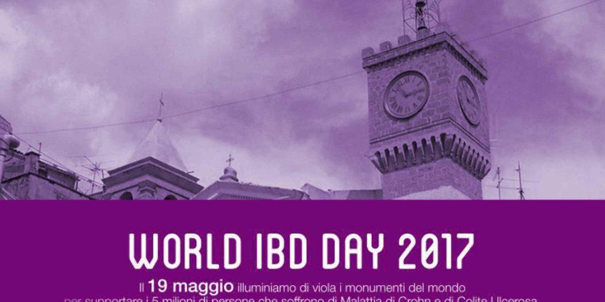 Cianciana aderisce al World IBD Day 2017: Torre dell'Orologio illuminata di viola