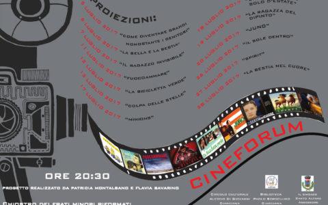 Cianciana, Cineforum presso il Chiostro dell'ex Convento
