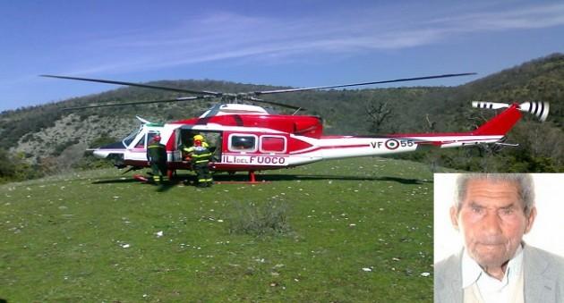 Scomparsa Guida: elicottero vigili del fuoco