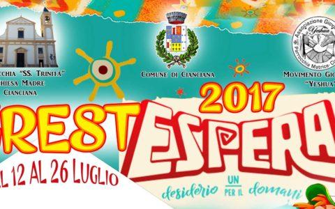 Grest ESPERA 2017, si parte il 12 Luglio: due settimane alla riscoperta dei desideri e delle speranze