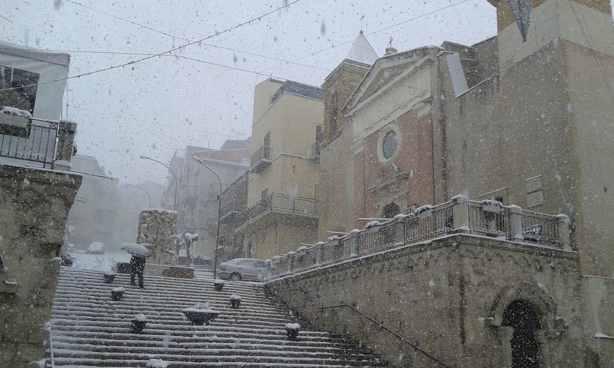 La neve imbianca Cianciana: le foto