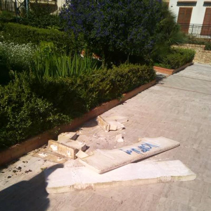 Cianciana, Villa Comunale devastata da vandali