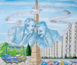 Cartello commemorativo Falcone-Borsellino