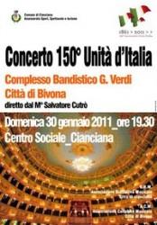 Concerto 150° anniversario Unità d'Italia