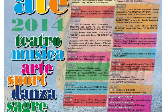 Programma Estate Ciancianese 2014
