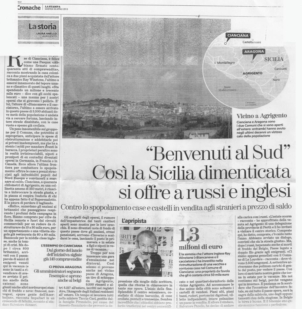Benvenuti al Sud - La Stampa 02/05/13