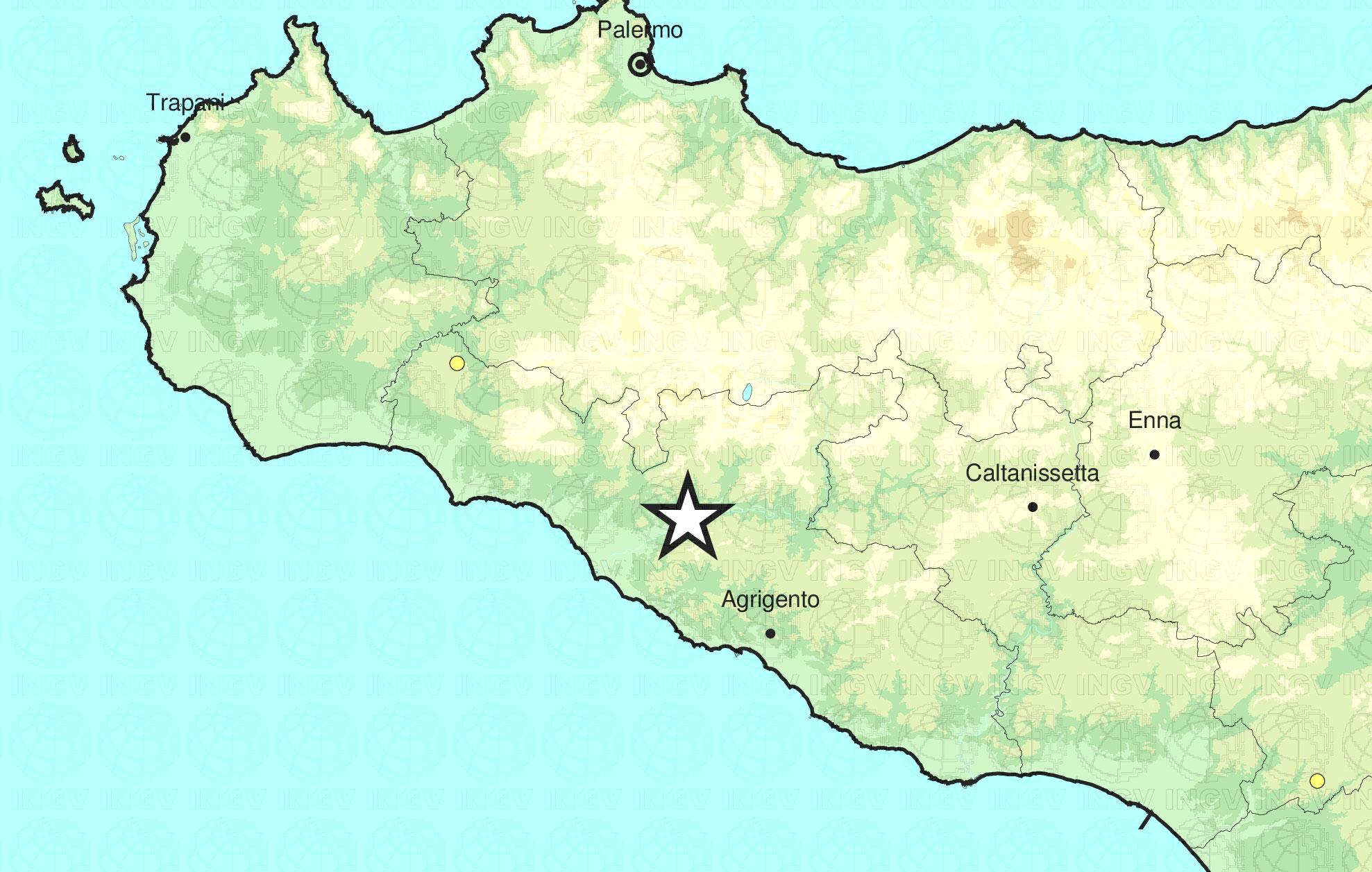 Lieve scossa di terremoto registrata a Cianciana